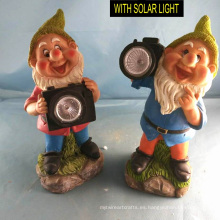 Decoración de Jardín Polyresin Dwarf W. Solarlight