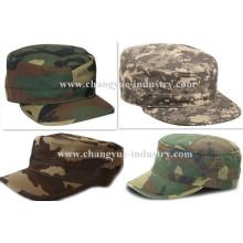 Diseño de camuflaje por mayor equipado sombrero del casquillo plano cadete del ejército
