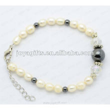 Rhinestones pulsera de moda y colores de perlas