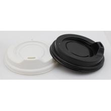 White Black Plastic Cup Travel Lid