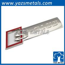 Emblema del coche de la marca de fábrica del diseño del oro para la promoción