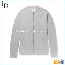 Color gris con la chaqueta agradable con capucha de la chaqueta de primavera de los hombres del logotipo del cliente