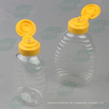 250g Plastik Squeeze Honig-Flasche mit Silikon-Ventil-Kappe (PPC-PHB-79)