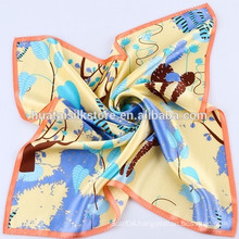 2014 New Design Hand Printed Small Silk Scarf Chinese silk scarf wholesale