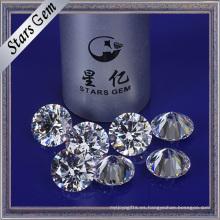 Color blanco 12 mm Ronda Star Cut Cubic Zirconia