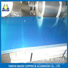Aluminio / aluminio liso / plano / placa con película PE un lado (1050, 1060, 1100, 3003)
