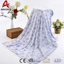 New design custom embossed bottom printed carved flannel fleece blanket