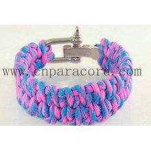"""rosa e luz azul fivela ajustável camo 8 """"pulseira"""