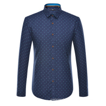 Camisa de vestir formal 2017 del algodón de la camisa impresa de los hombres de la primavera