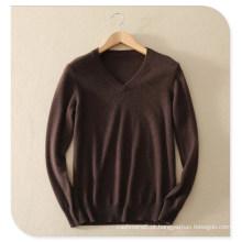 2017 men knitwear 100% suéter de cashmere camisola de manga comprida decote em v puro cashmere camisola de tricô