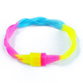 Multicolor Twist Silicone Energy Bangle Glow In The Dark