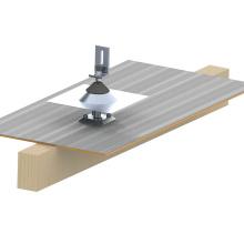 Sistema de montaje solar casero de aluminio del tejado plano de la baldosa 20KW de la prueba a prueba de fugas