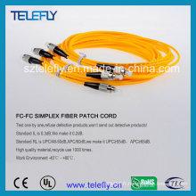 Câble de cordon de raccordement fibre optique à mode unique FC