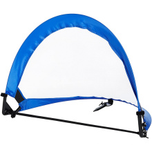 Two 4ft Pop Up Soccer Goal Net Set Portable Foldable Training Football Net WIth Carry  Bag