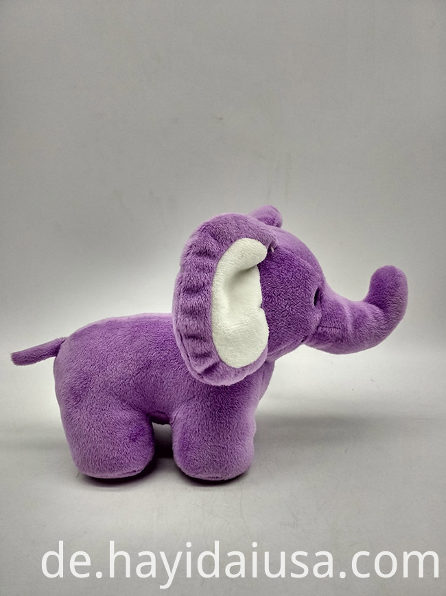 plush elephant toy side view