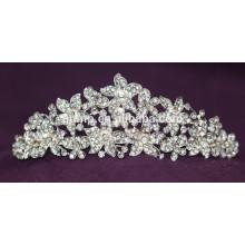 Fashion Alloy Custom Shiny Crystal Bridal Crown Wedding Tiara