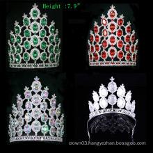 Crystal Crown Rhinestone Tiara Pageant Big Crowns