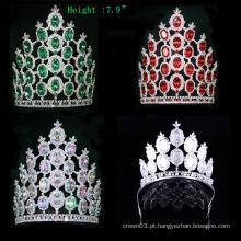 Coroa de Cristal Crown Rhinestone Tiara Pageant Big Crowns