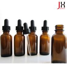 Pharmaceutical Amber Glass Garrafa Óleo Essencial Round Boston Bottle