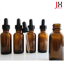 Фармацевтическая янтарная стеклянная бутылка Эфирное масло круглый Бостон Бутылка