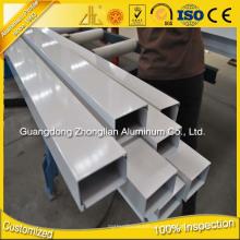 6063 T5 Aluminium Profile Accessories Boxes Aluminium Extrusion Square Tube
