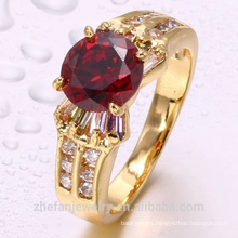 Garnet gemstone rings for women, low price white gold plated wedding rings