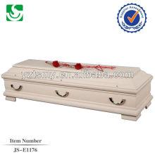bon marché cercueils traditionnels velours poli naturel