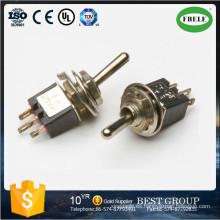 Interruptor de palanca subminiatura on-on Spdt 3p, Mini interruptor Interruptor de palanca pequeño, Interruptor basculante