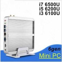 Mini PC inalámbrico Skylake Chipset 15W-28W PC de bajo ruido Smart PC I7 6500u Dual Core
