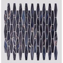 Decoração de mosaico de mosaico de vidro preto KTV Bar