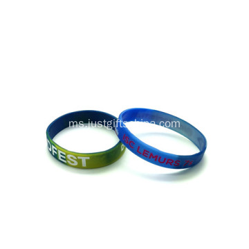 Wristbands Custom Swirled Dengan Logo Infilled