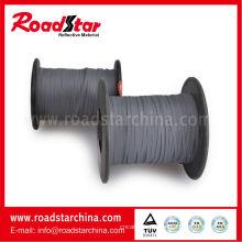 2mm breite graue Farbe doppelte Seiten reflektierende Thread zum Stricken