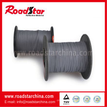 2mm width grey color double sided reflective thread for knitting
