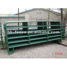 Paneles Corral con revestimiento de inmersión en caliente, puertas de granja, plumas redondas, paneles de cabra / oveja