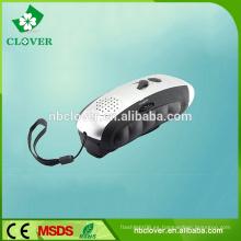 Uso de camping 3 LED mano manivela dinamo linterna recargable de radio con linterna