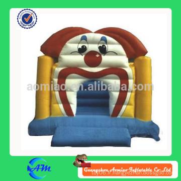Bouncer gonflable pour dessin animé clown drôle