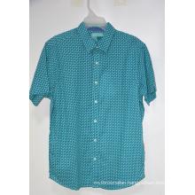 Casual Summer Printed Button Down Short Sleeve Shirt