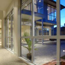 Fixation pour mur-rideau en verre aluminium de styles écologiques