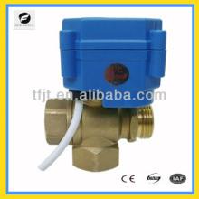 """Válvula operada a motor 3 vías T-flow DC3-6V 3/4 """"con indicador de posición"""