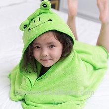 Enveloppe super moelleux en flog vert à capuchon bébé serviette bambou bébé Serviette à capuche super doux premium bébé serviette de bain