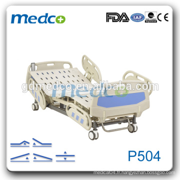 Medco P504 ICU Five Function Electric Hospital Medical Bed avec rail latéral ABS à vendre