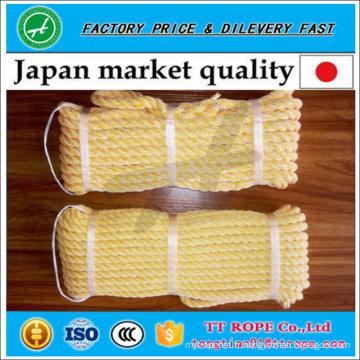 Corde tordue de qualité japonaise 3 brins kp faite de monofilament de pe et de fil de polyester
