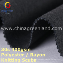 Polyester Rayon Knitted Scuba Fabric for Dress Clothes (GLLML395)