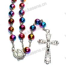 Ожерелье из цветного стекла из бисера с розарием