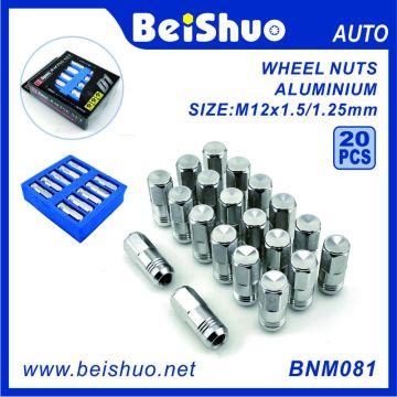 20 PCS Colored Aluminum Racing Wheel Nut Set