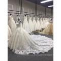 Nouvelle robe de bal de luxe à manches longues robe blanche musulmane robe blanche