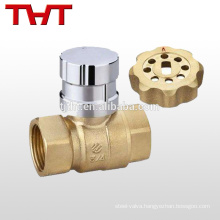 brass threaded magnetic ball valve with handle lock