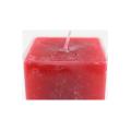 Рекламный подарочный столик украшенный квадратными колонными свечами