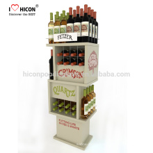 Sell More Wine With Beautiful Customized Commercial Liquor Whiskey Wine Wooden Glass Display Cabinet