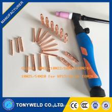 Acessórios de soldagem Tig 10N21 collet para tocha wp26